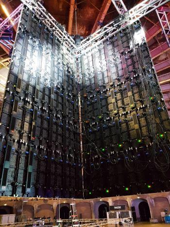 Indoor led scherm op evenementenlocatie Westergas